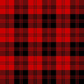 Erskine black and red tartan