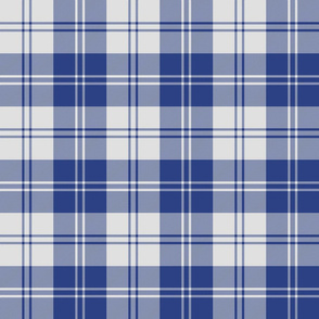 Erskine dress slate-periwinkle blue tartan