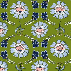 Dutch Floral: Green