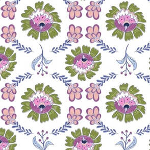 Dutchie Floral: Green & Pink
