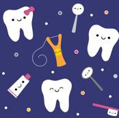 Happy Teeth & Friends - Royal Blue