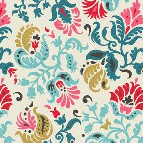 Feathered Damask (2b)