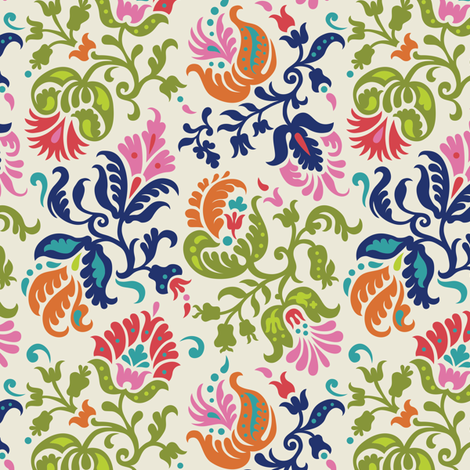 Feathered Damask (4) fabric by wrapartist on Spoonflower - custom fabric