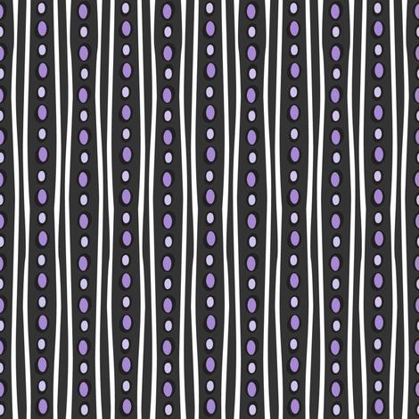 Midnight Stripe (Dark Purple) fabric by robyriker on Spoonflower - custom fabric