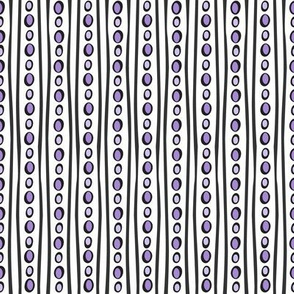 Midnight Stripe (Light Purple)