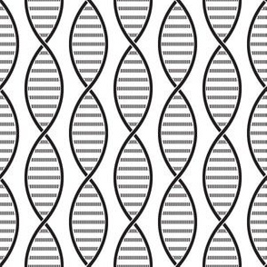 DNA Strands (White and Black)