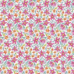 Pink Floral Toss
