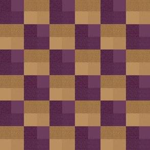 Hedgehog Plum & Caramel Textured Checks