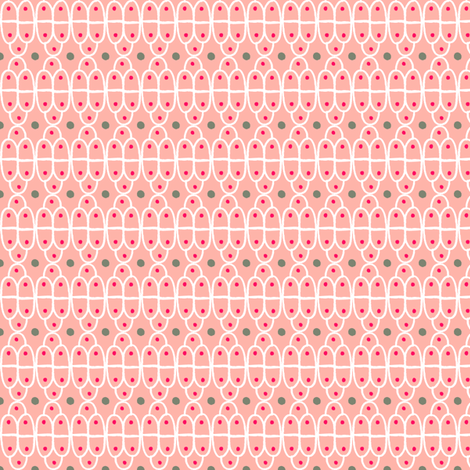 Hand drawn scallops: Peachy Coral fabric by verysarie on Spoonflower - custom fabric