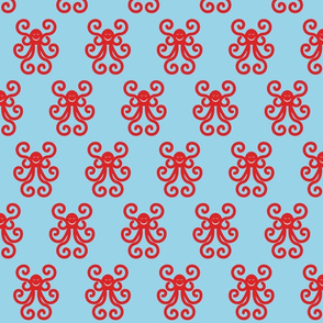 Hippy Dippy Red Octopus
