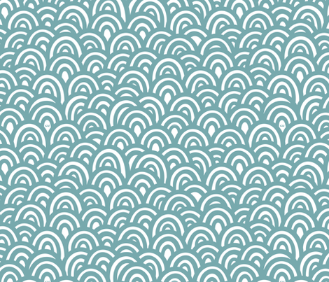 Antarctic Waves fabric by studio_amelie on Spoonflower - custom fabric
