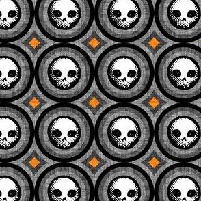 Geo Skulls - orange