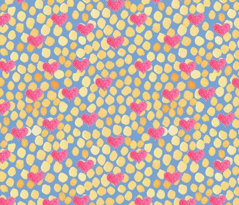 Patchwork Hearts fabric by jennifergeldard on Spoonflower - custom fabric