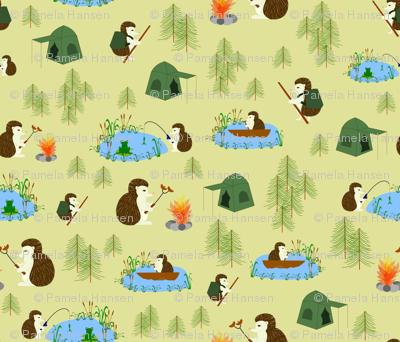 hedgehog goes camping