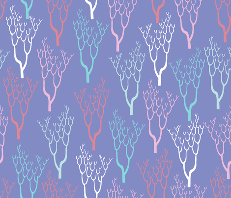 Coral Cove fabric by dearchickie on Spoonflower - custom fabric