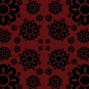Floral - Maroon