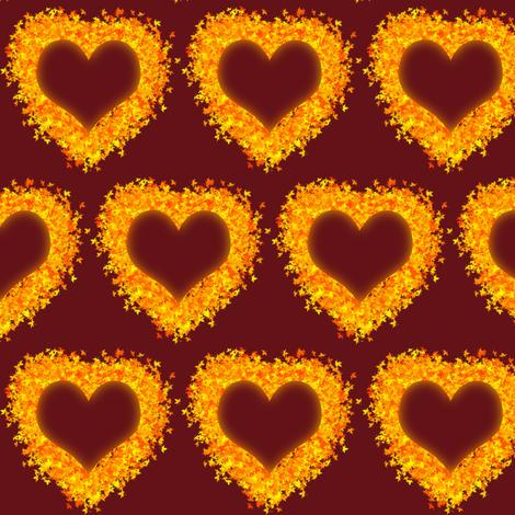 I Love Autumn- Maroon fabric by magicmamahandmade on Spoonflower - custom fabric