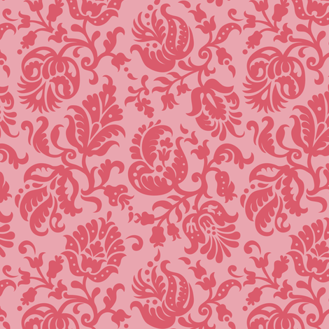 Feathered Damask (5b) fabric by wrapartist on Spoonflower - custom fabric