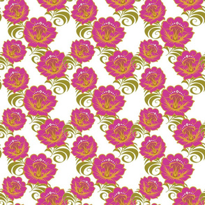 Pink-Yellow-flowers-BKGRD-Tile