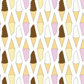 Ice Cream Cones - Neapolitan