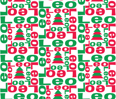 CHRISTMAS personalised name design - spiral fabric by spunkymonkees on Spoonflower - custom fabric