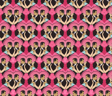 romance fabric by hannafate on Spoonflower - custom fabric