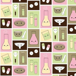 Happy Pharmacy Friends - Brown & Pink