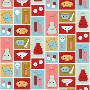Happy Pharmacy Friends - Red & Blue