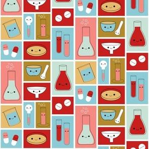 Happy Pharmacy Friends - Red & Blue
