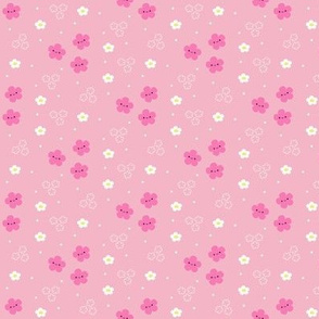Happy Flowers - Pink - Small