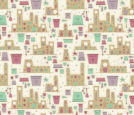 Sandcastles fabric by brendazapotosky on Spoonflower - custom fabric