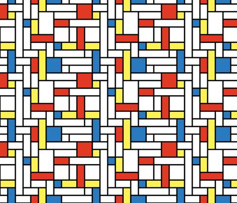 Mod - Mondrian Blocks fabric by studiofibonacci on Spoonflower - custom fabric