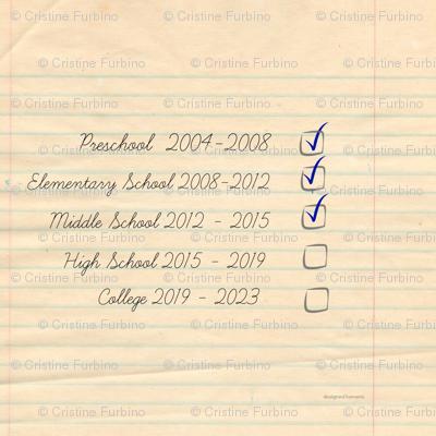 School Checklist PILLOW