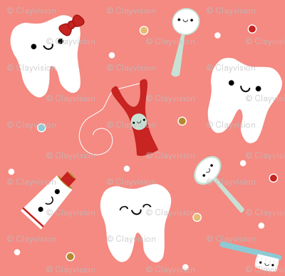 Happy Teeth & Friends - Salmon