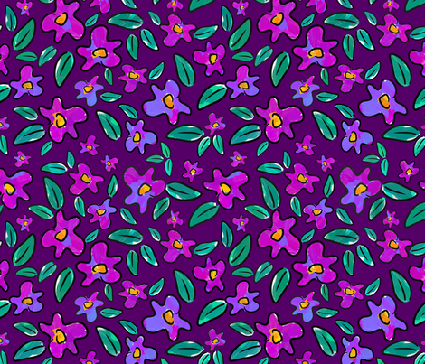 Fuchsia   fabric by meisiesdoodles on Spoonflower - custom fabric
