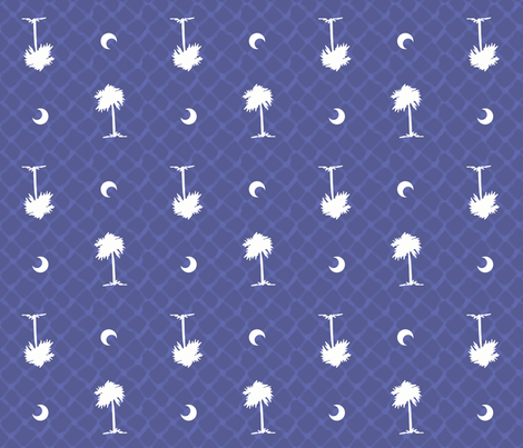 SC Palmetto Trees fabric by rickrackscissorsstudio on Spoonflower - custom fabric