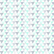 Grey, Aqua and Mint Triangles