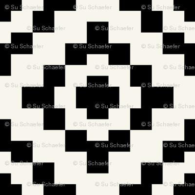 Black + off-white geometric West by Southwest by Su_G