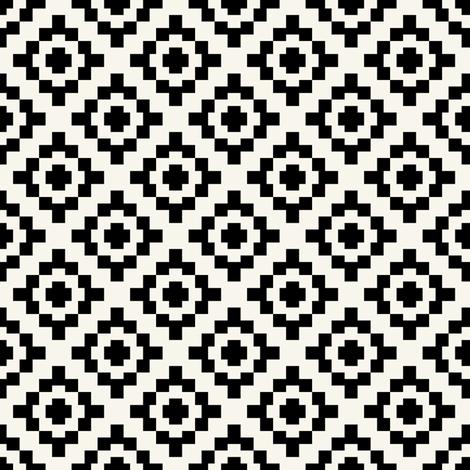 Black + off-white geometric West by Southwest by Su_G fabric by su_g on Spoonflower - custom fabric