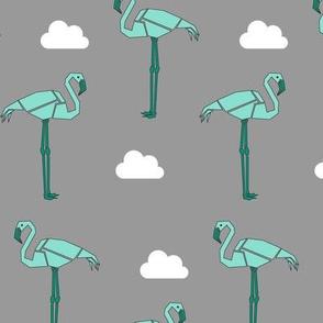Fantastic Flamingo - Grey