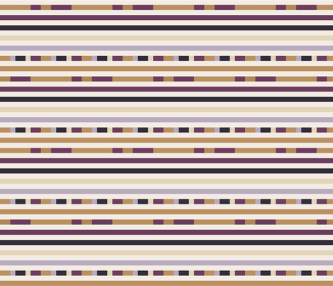 Hedgehog Stripes (horizontal) fabric by anniedeb on Spoonflower - custom fabric