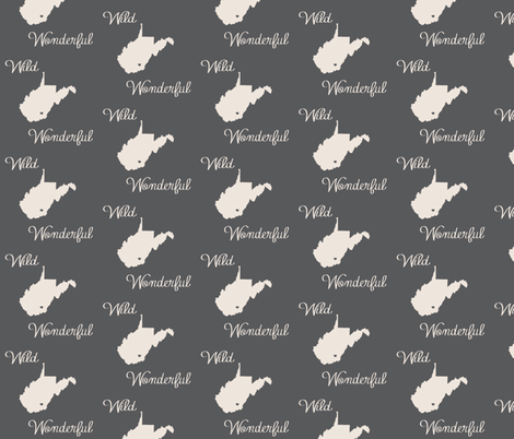 wvloveblack fabric by b__woolf on Spoonflower - custom fabric