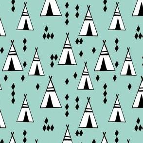 teepee // mint nursery baby small version