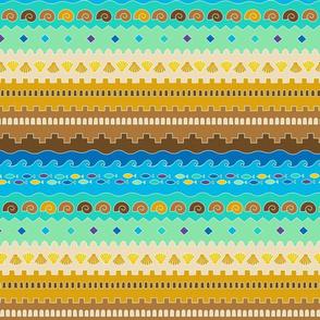 Tribal sandcastle (color)