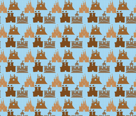 Castles of Sand fabric by mammajamma on Spoonflower - custom fabric