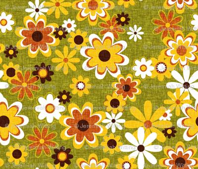 Retro Geo Flowers