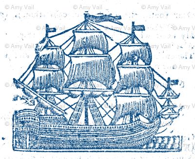Broadside Ships Blue