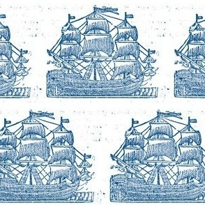 Broadside Ships Blue