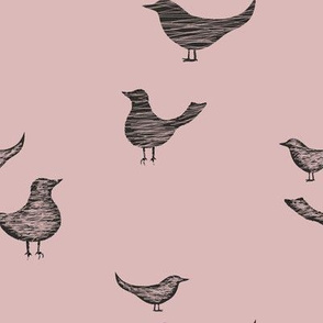 Dusty Rose Birds