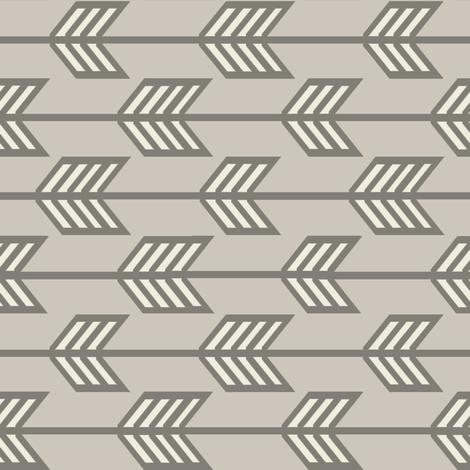 Infinity_Feathered_Arrows_dark fabric by googoodoll on Spoonflower - custom fabric